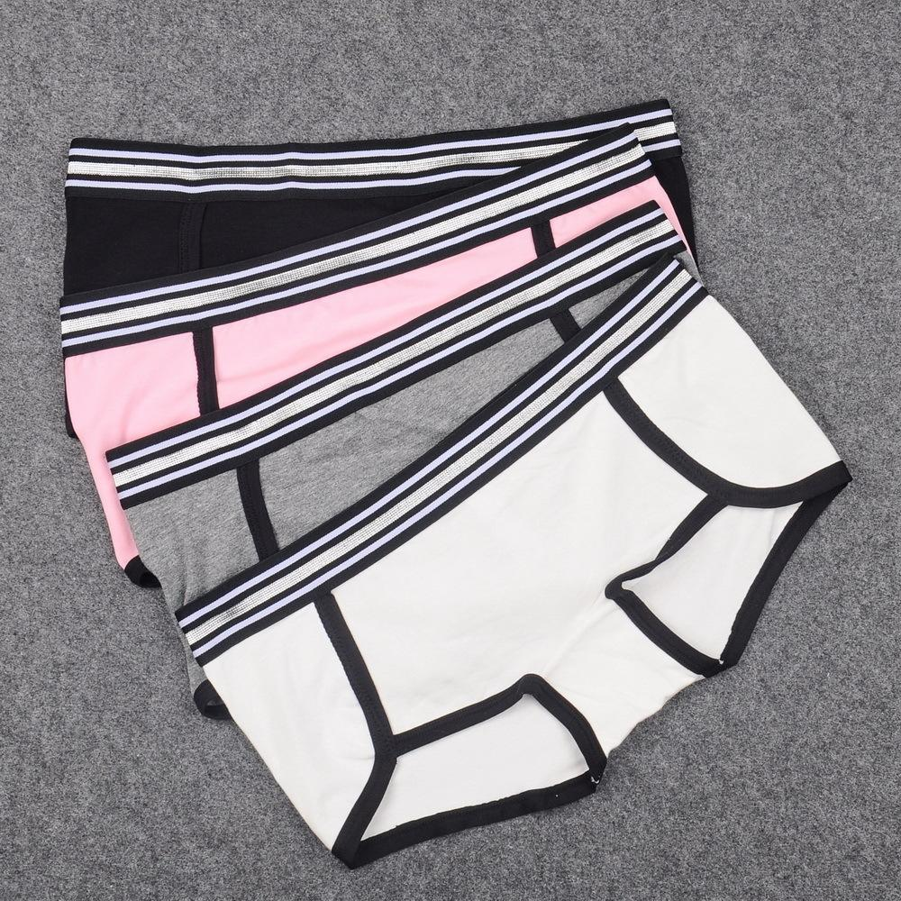 Panties carini ragazzi per le donne Boy Breve Biancheria intima di cotone spessa biancheria intima Donne Boxer in argento cintura di alta qualità Lingerie femmina Y200425