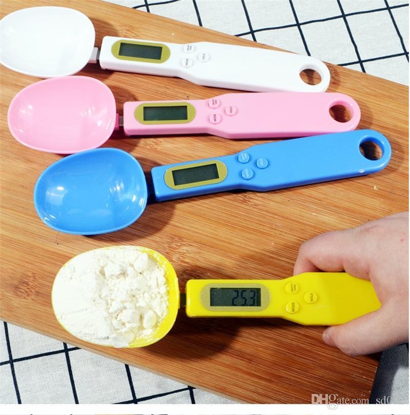 ميزان 0.1G ملعقة مقياس الالكترونية الرقمية المطبخ الميزان الوزن قياس أدوات المطبخ الخبز الأزياء 17yj UU