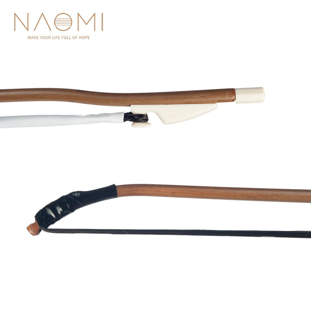 NAOMI Erhu Bow Chinese Violin Bow Black Horse Hair High Quality String Instrument Parts Accessories New