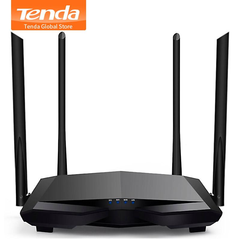 Tenda AC6 2.4G/5.0GHz Smart Dual Band AC1200 Wireless WiFi Router Wi-Fi , APP Remote Manage, English Interface