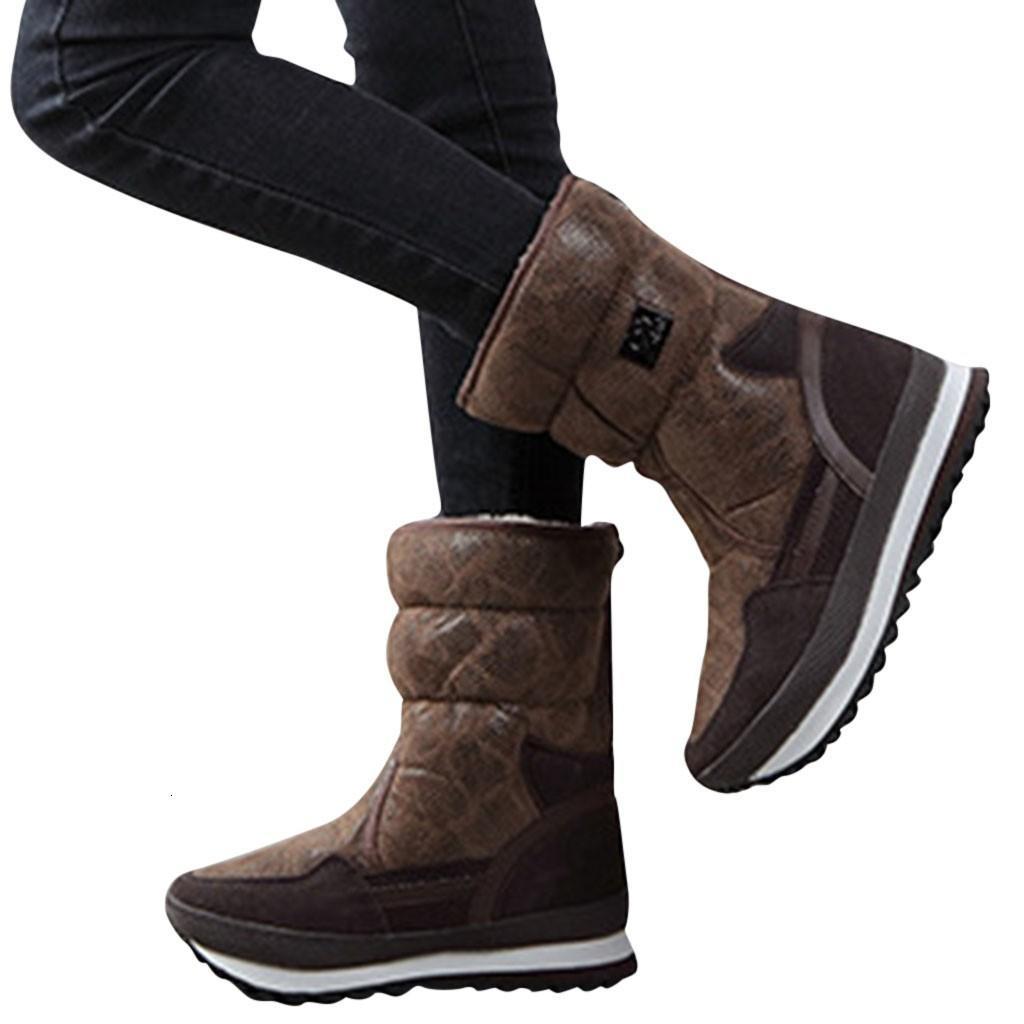 Mid Calf Snow Boots Women Winter Long