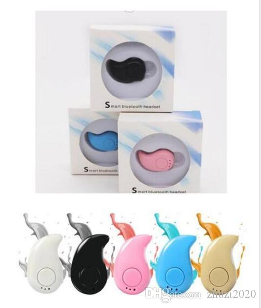 Mini S530 Wireless Bluetooth Earphone Stealth Headphones In-ear Earbud With Mic with retail box for Samsung s6 s7