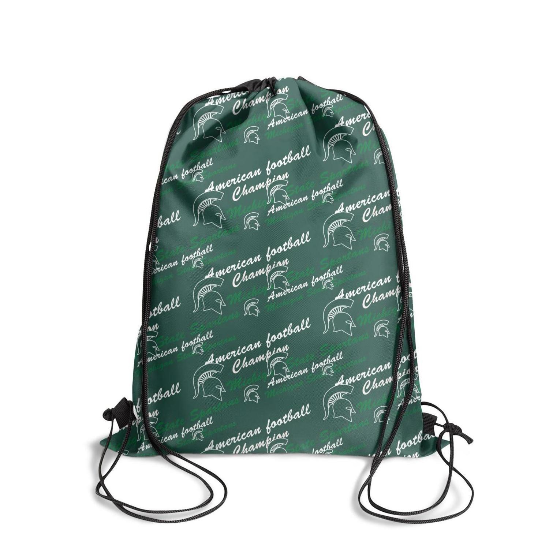 Штат Мичиган спартанцы баскетбол logoFashion спортивный пояс рюкзак, дизайн ретро персонализированные регулируемая строка пакет, подходит для