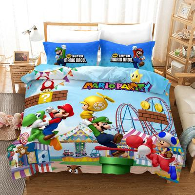 High Quality Super Mario Bros. Duvet Cover Set Bed Set Kawaii Cartoon  Bedding Full Size For Girls Boys Bedroom Home Decors Black And White  Bedding ...