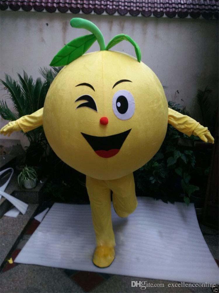 Yaratıcı Portakal yetişkin maskot kostüm fantezi elbise takım elbise herhangi bir boyut yüksek KALİTE meyve