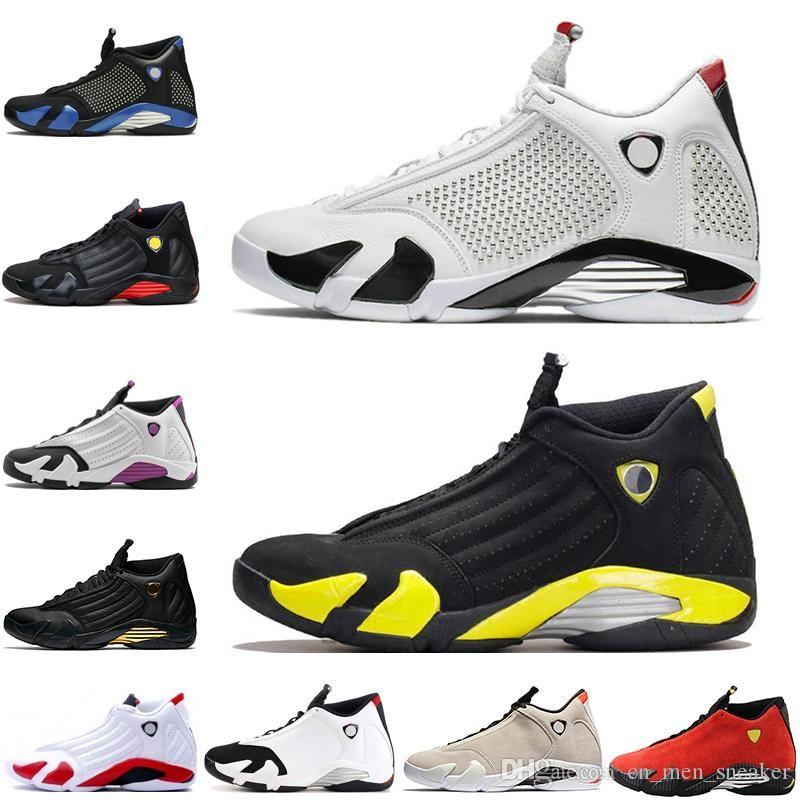 Toptan Ucuz Beyaz Siyah XIV Siyah Parmak DMP Ters Altın Erkekler Spor Tasarımcı Sneakers Eğitmenler Thunder Erkek Basketbol Ayakkabı 14s kırmızı