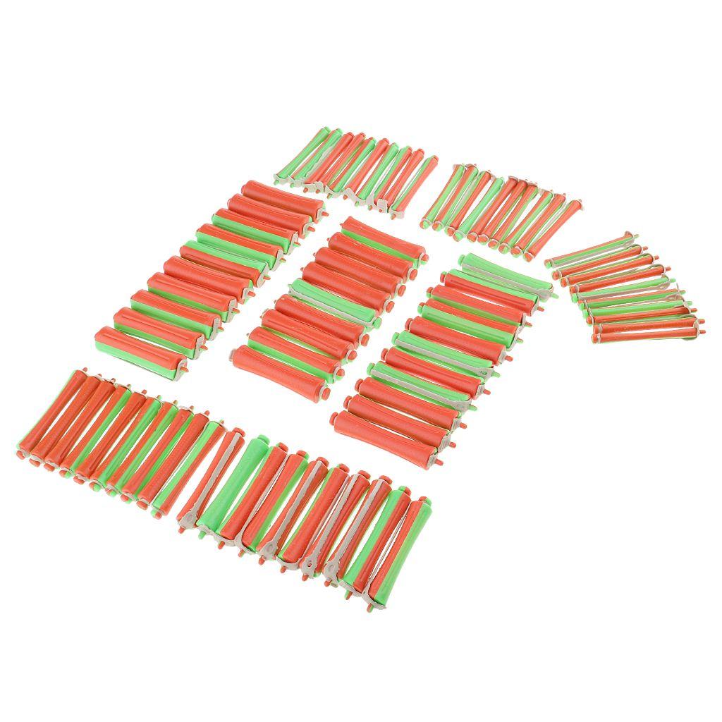 많은 80 조각 모듬 플라스틱 콜드 웨이브 파마로드 헤어 미용 경기자 스타일링 DIY 컬링 롤러 세트 크기의