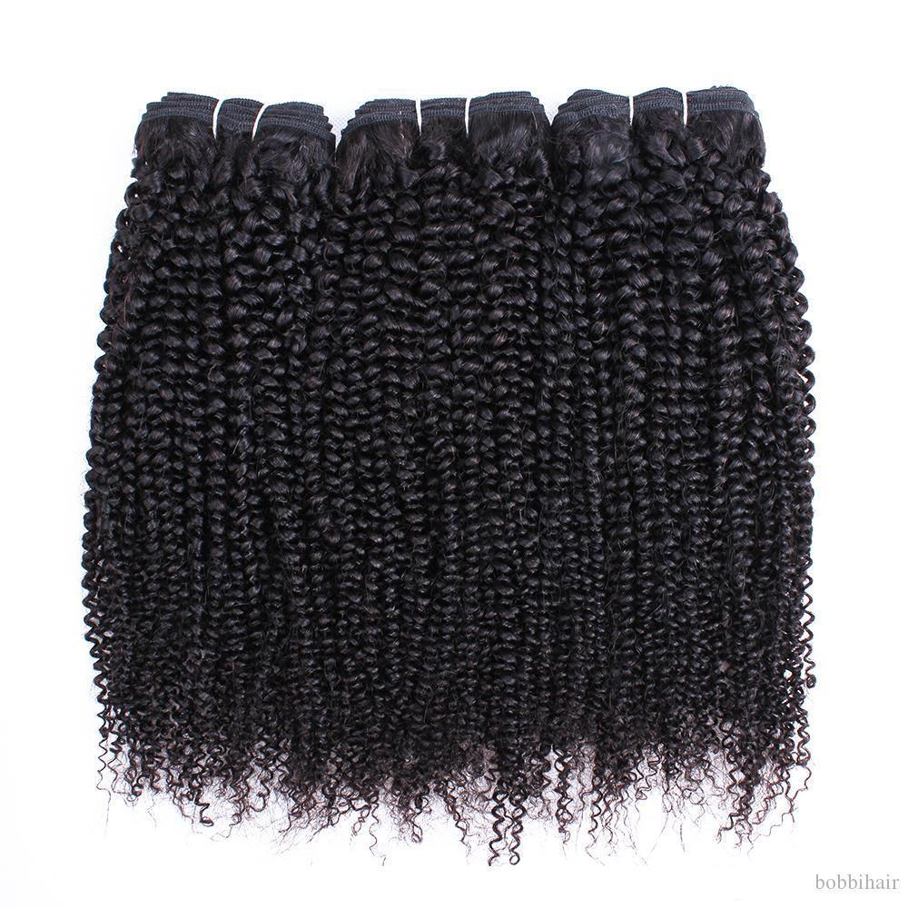 C Afro Kinky cabelo encaracolado Pacotes peruana índio brasileiro virgem do cabelo 3 ou 4 feixes 10 -28 Inch Remy Extensões de cabelo humano