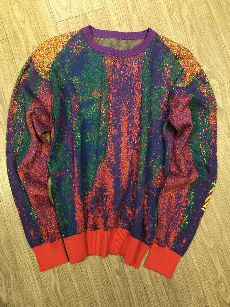 2020 France latest Autumn Winter Sweaters rainbow printing casual high-quality fashion men women wild top