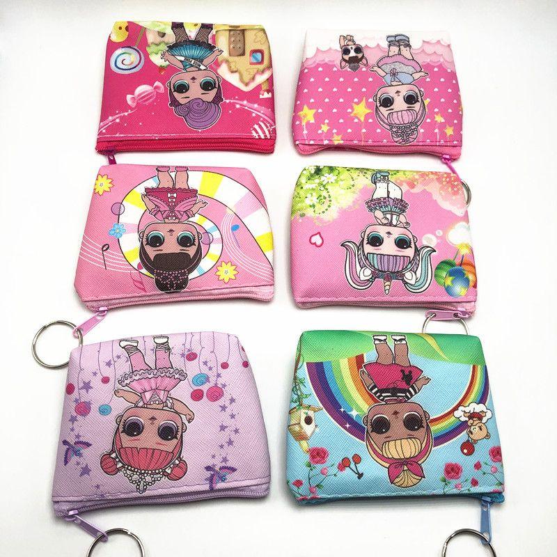 LOL Puppe Mädchen Wallet Kinder lol Puppen-Cartoon-Party Geldbörse beste Geschenk A301