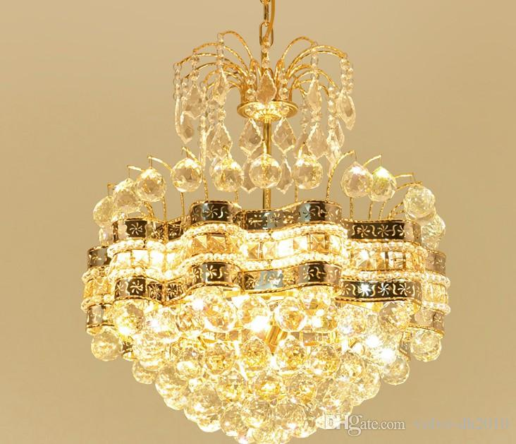 Moderna oro Lampadari di cristallo di luce LED 48 centimetri soffitto lampadario Lampade Luci Lampade a sospensione per sala da pranzo Camera da letto Illuminazione LLFA