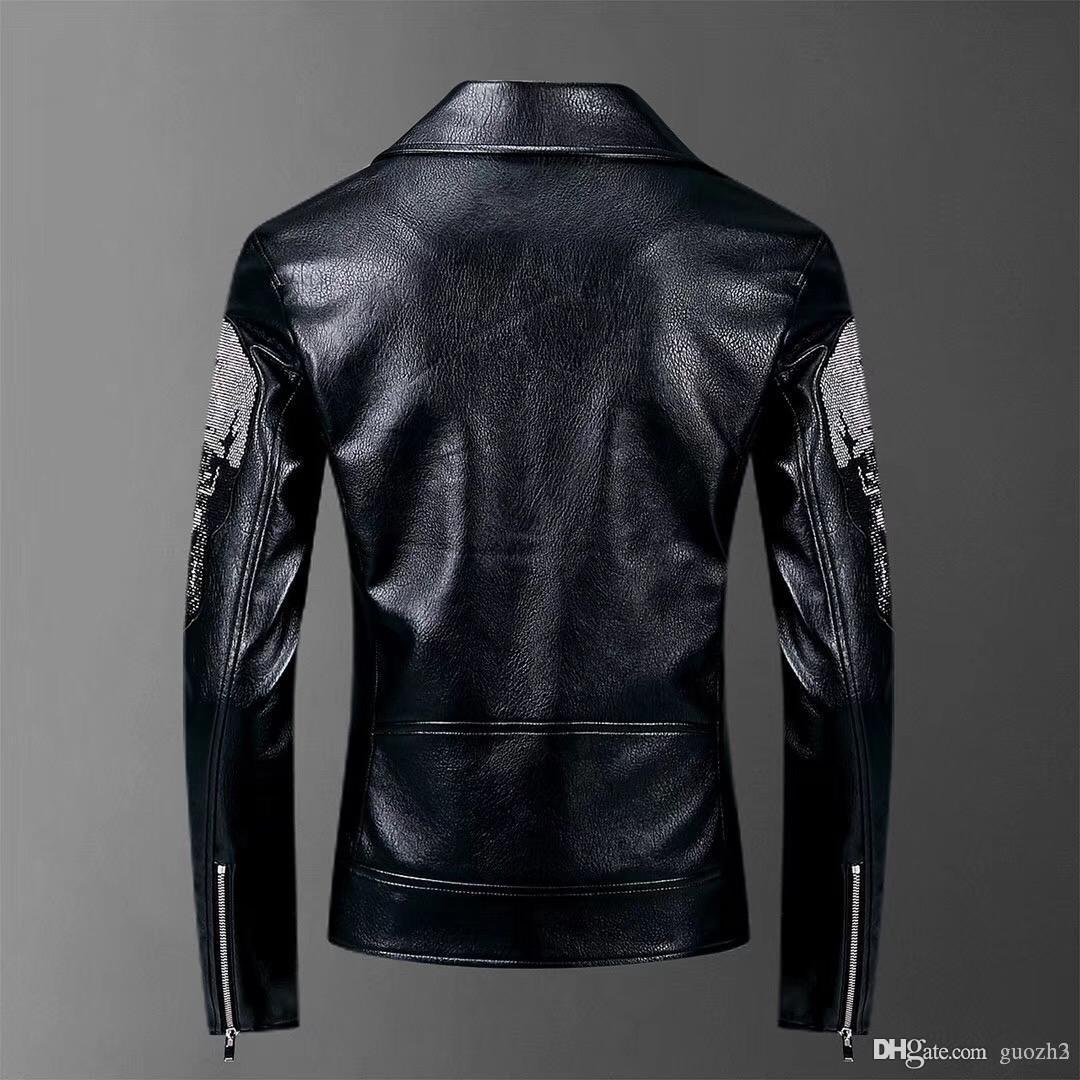 stile europeo 3d uccelli retrò stampa giacca lusso moda maschile autunno 2018New mens streetwear qualità giacche e cappotti GUOZH3