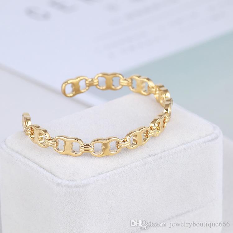 Top quality Brass material love punk opened hollow design Bangles Cuff Bracelet Cufflink Send Women gift PS6275A