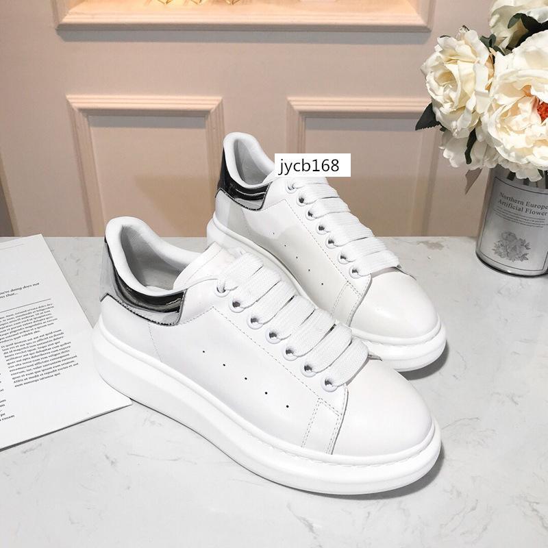 kutu Promosyon Moda Günlük Ayakkabılar Flats Moda Kalın Kösele Yürüyüş Ayakkabı Dış Mekan Günlük Elbise Parti Sneakers 6 ile
