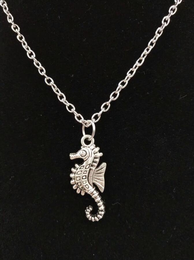 ГОРЯЧИЙ 5PCS / LOT Antique Silver Красивого конек Подвеска Ожерелье шарма женщин способ ювелирных изделия Курортных Подвески подарок ювелирных изделия - 91