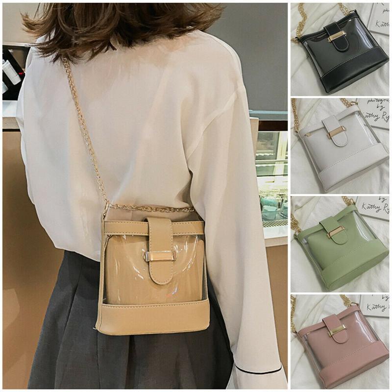 New Messenger Clear Bag Borsa a tracolla trasparente per la borsa da donna Borsa da donna Borsa da viaggio Tote Jelly Fashion PVC crossbody fcgjd