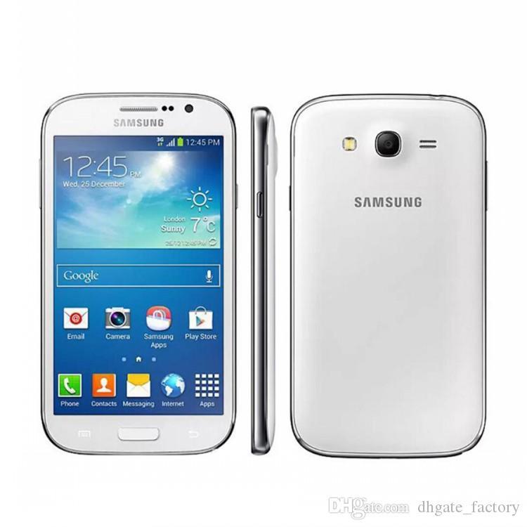 مجدد DUOS I9082 الأصلي سامسونج GALAXY Grand WCDMA 3G إفتح المزدوج سيم مايكرو بطاقة 5 بوصة 1GB / 8GB 8MP / 2MP الهواتف الذكية
