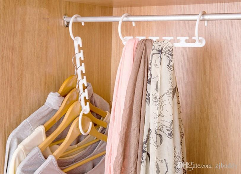 Wholesale Magic Clothes Hanger 3D Space Saving Clothing Racks Closet Organizer with Hook 40pcs 8pcs for a pack