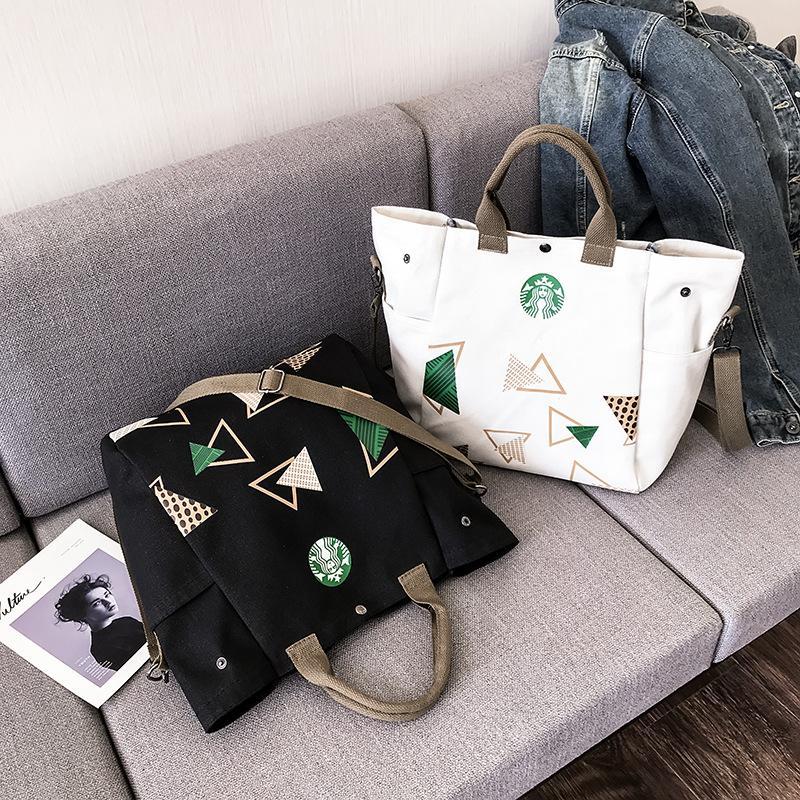 Yeni Moda Kadınlar Çanta Marka Tuval Alışveriş Çantası Yüksek Kalite Omuz Çantası 4 Renkler Toptan