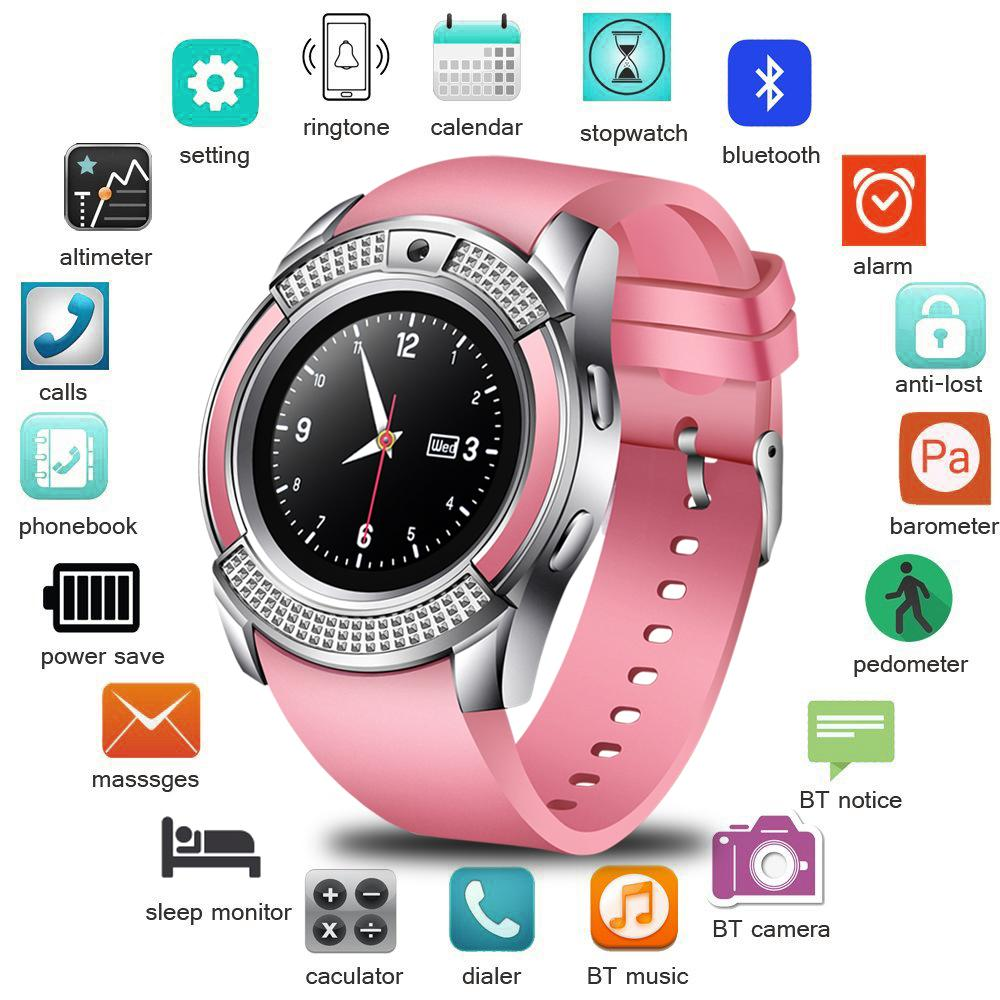 BANGWEI smart watch round support Nano SIM and TF card with Whatsapp and Facebook sedentary sleep reminder sport smart wristband