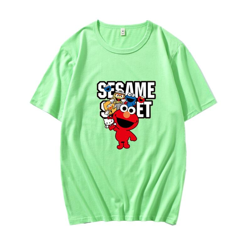 new lovers shirts man women casual t-shirt short sleeves UNIQLO X KAWS X SESAME STREET L fashion coat clothes outwear tee tops qualityds03