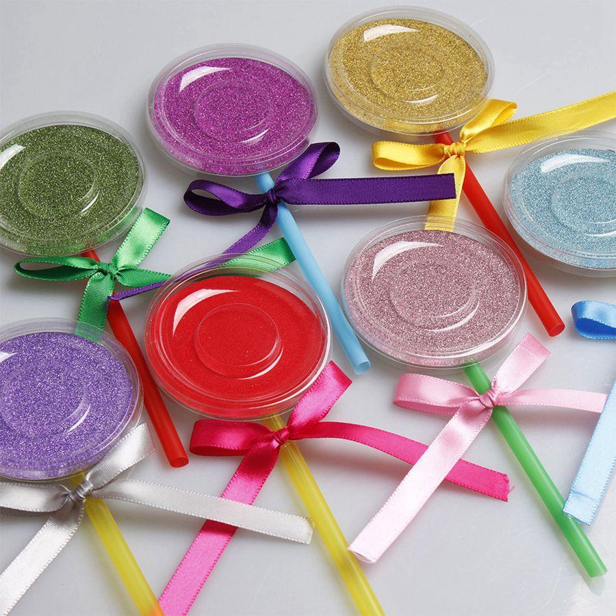 Lollipop Eyelashes Package Boxes 3D Visone Ciglia Scatola Casse del Ciglio di Falce Ciglia di Visone Scatola di Immagazzinaggio Scatole Lash Rotonde Strumento di Trucco RRA1454