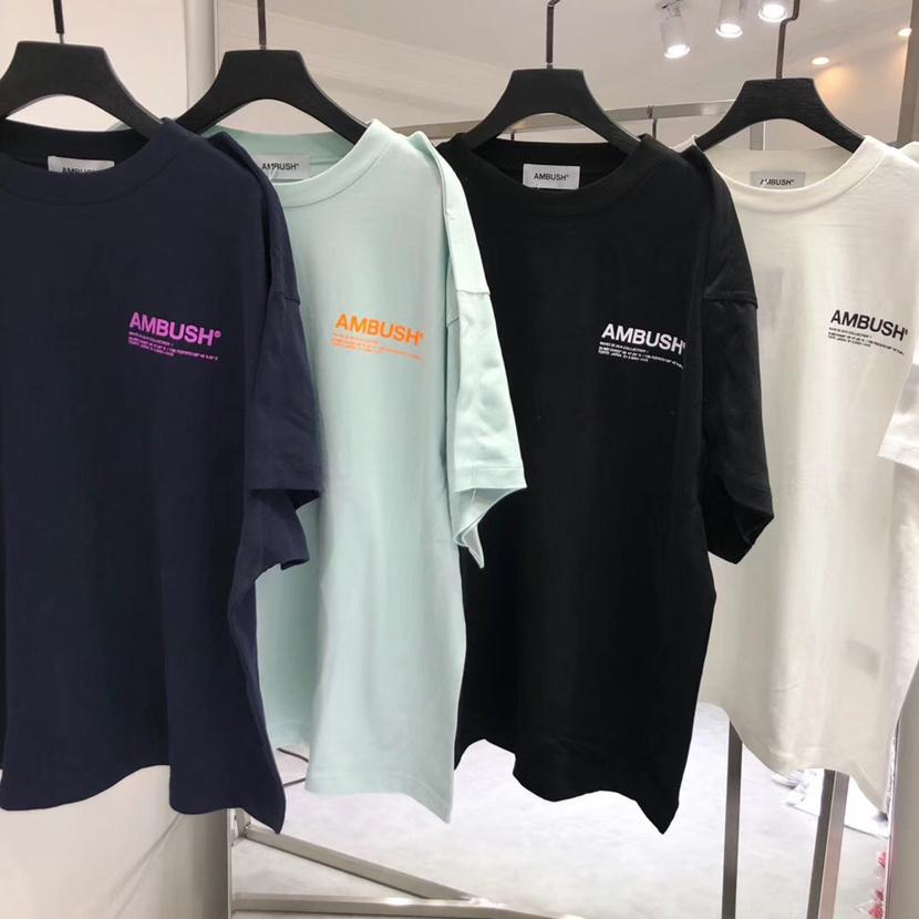 19SS Ambush T Frauen-Hemd Männer 1: 1 hochwertiges 3M Reflex T-Shirt High Street Hip-Hop Cotton Top Tees Ambush-T-Shirt