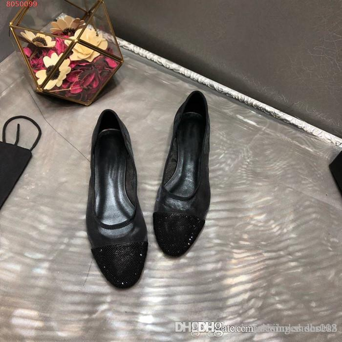 Femmes élégantes chaussures plates occasionnels noir respirant Gaze Splicing de forage d'eau et confortables sandales tête ronde avec la taille de la boîte 35-40cm