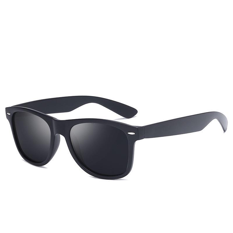 classico di modo quadrati Occhiali da sole polarizzati donne degli uomini di marca d'epoca di guida Goggle Rivet Specchio Maschile Occhiali da sole UV400