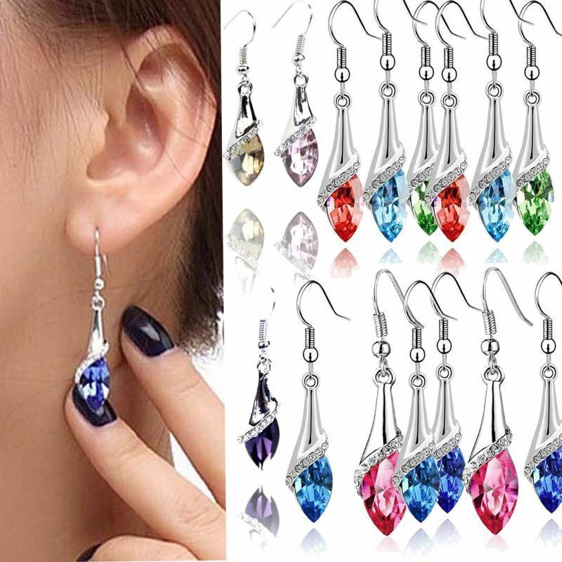 Neue Art und Weise der Frauen-Flash-Diamant-Ohrringe lange Kristall Ohrringe