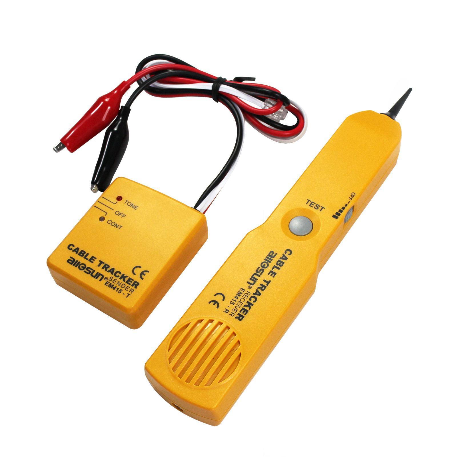 휴대용 네트워크 케이블 추적기 와이어 회로 Openshort 테스터 케이블 테스터 전화 케이블 추적기 자동차 와이어 추적기 모든-일 모델 EM415