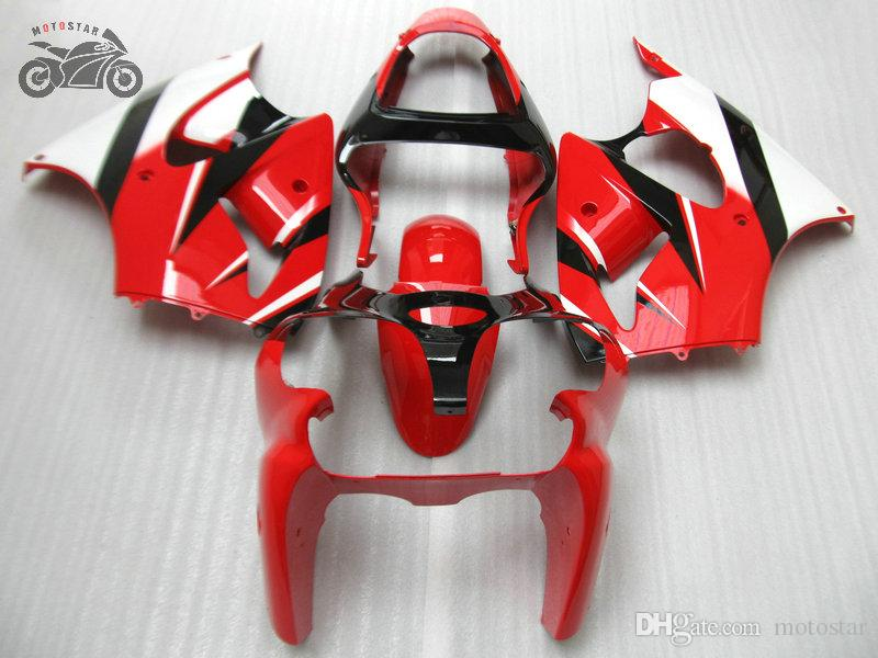 ABS plastfeedningssats för Kawasaki Ninja ZX6R 636 00-02 ZX-6R 00 01 02 ZX 6R 2000 2001 2002 Motorcykel Bodywork Fairing