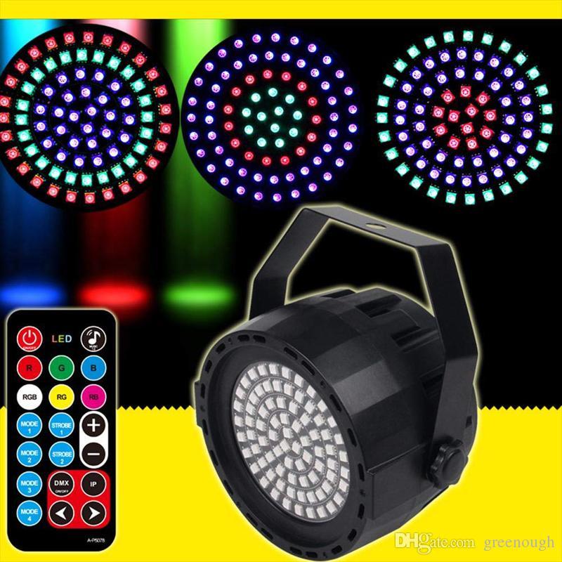 Nuevo 78 perlas LED luces de la etapa colorida lámpara de par escenario iluminación de la fiesta de la boda luz estroboscópica para Disco DJ Party Show Home Club 2 unids