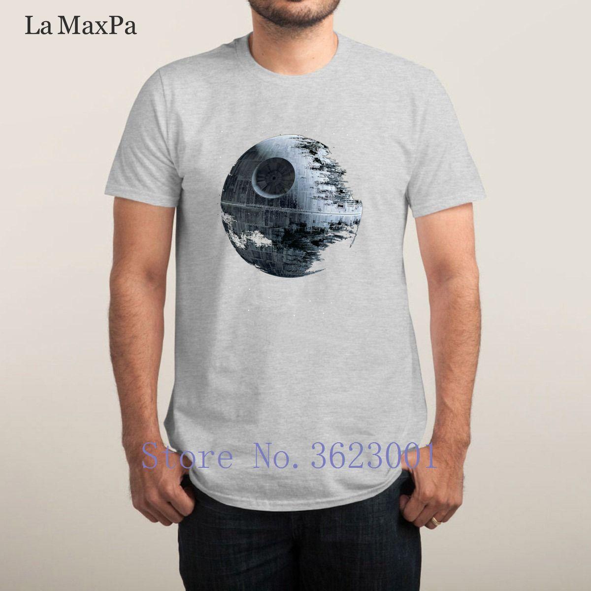 Tasarımları İnce erkekler Büyük Yaz Stili Yeni Kısa Kollu Tee Gömlek Man Hiphop Top İçin T Gömlek Ölüm Yıldızı mens