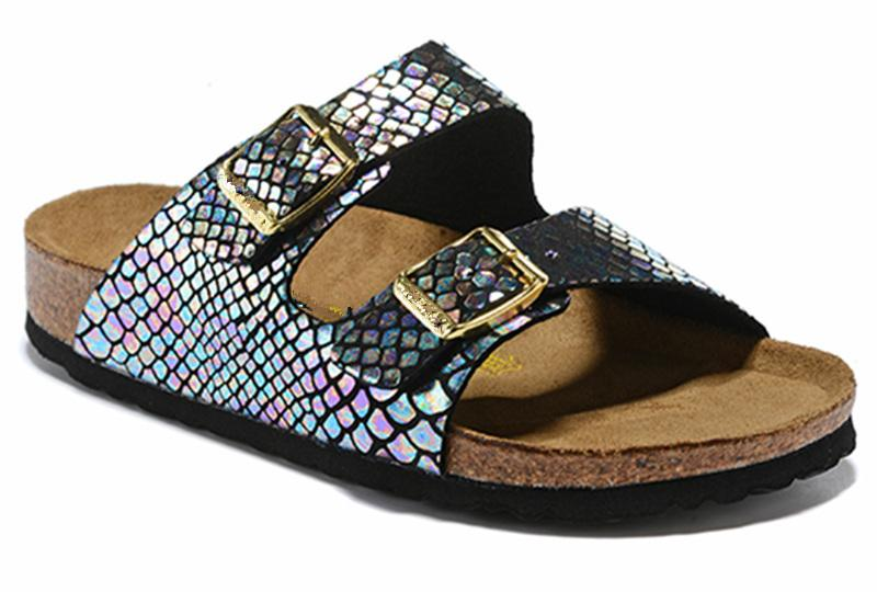 2020 Arizona Nuovo Summer Beach Cork pantofole sandali casuali doppia fibbia Zoccoli Sandali donne uomini scivolare sul flip Flops Scarpe Flats US3.5-15.5