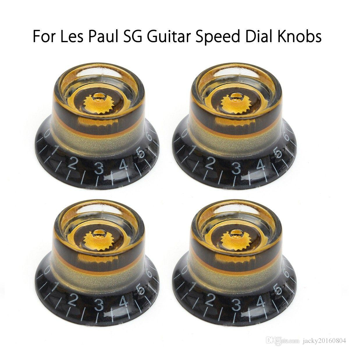 4pcs Black Gold Guitar Knobs Speed Control Volume Tone For Guitar Guitarra Replacement Electric Guitar Bass Accessories