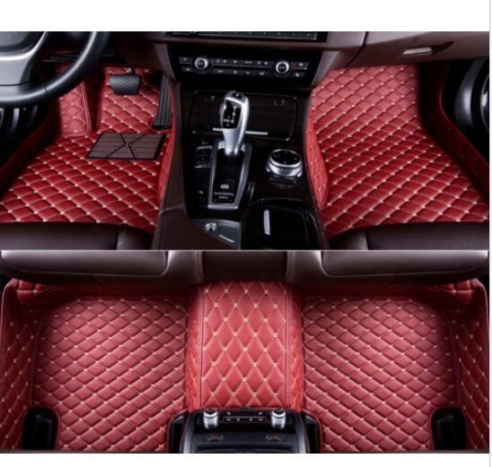 ALLYARD para XC90 7-Seats 2015-2019 Alfombrillas para Coche Antideslizantes Moqueta Impermeable autom/óviles Alfombrilla XPE Cuero Alfombra de Coche Accesorios Beige