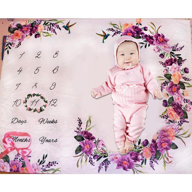 Newborn Organic Cotton Wreath Bamboo Baby Blanket Muslin Feeding Burpy Towel Scraf Muslin Diaper Diaper Photo Prop Manta