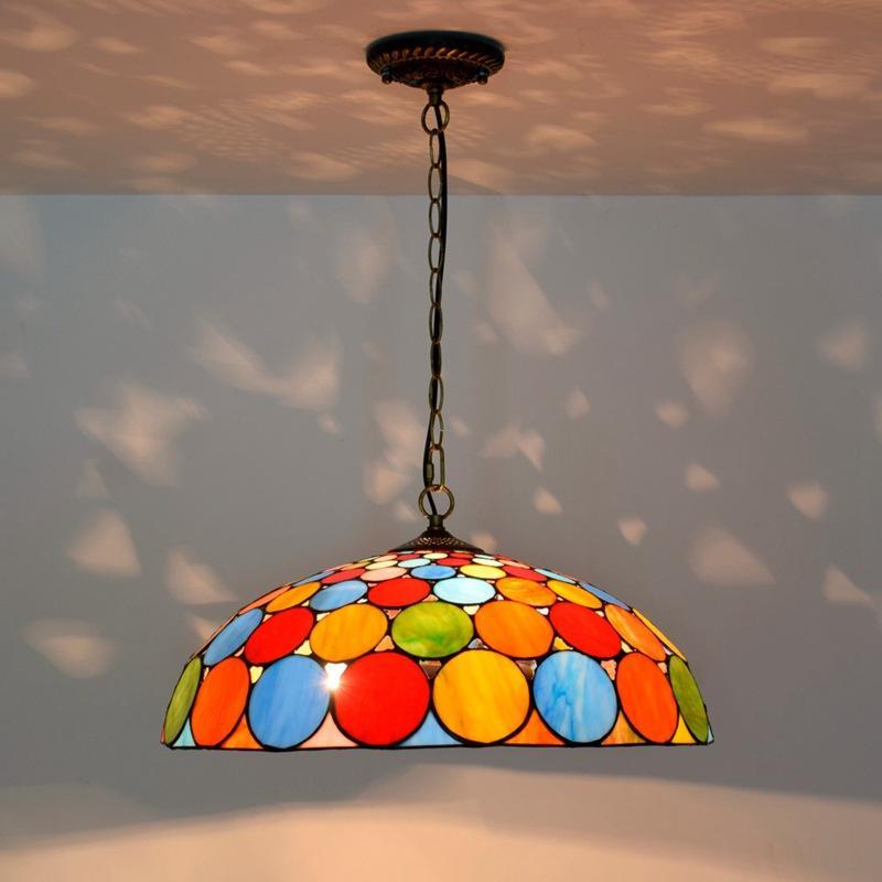 Богемный стиль бар люстра Европейский творческий Тиффани витраж гостиная столовая спальня украшения люстры TF082