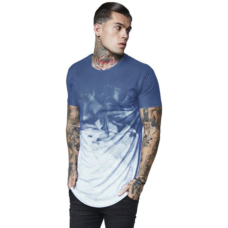 camisas para hombre T Tamaño de la UE verano tinta impresa camiseta del diseñador fina nueva de palangre manera ocasional Tops Manga corta
