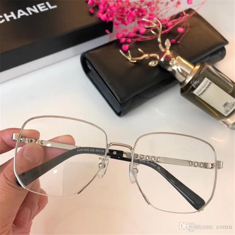 Art und Weise neuer Luxus Männer und Frauen Sonnenbrille 4142 Sonnenbrille Damenmode Designer Brille Designer UV-Schutz