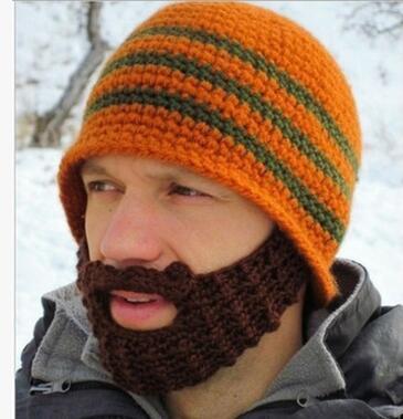 Atacado-homens e mulheres Ciclismo Snowboard Beard Beanie Bigode máscara facial Caps inverno quente Gorro Barrete