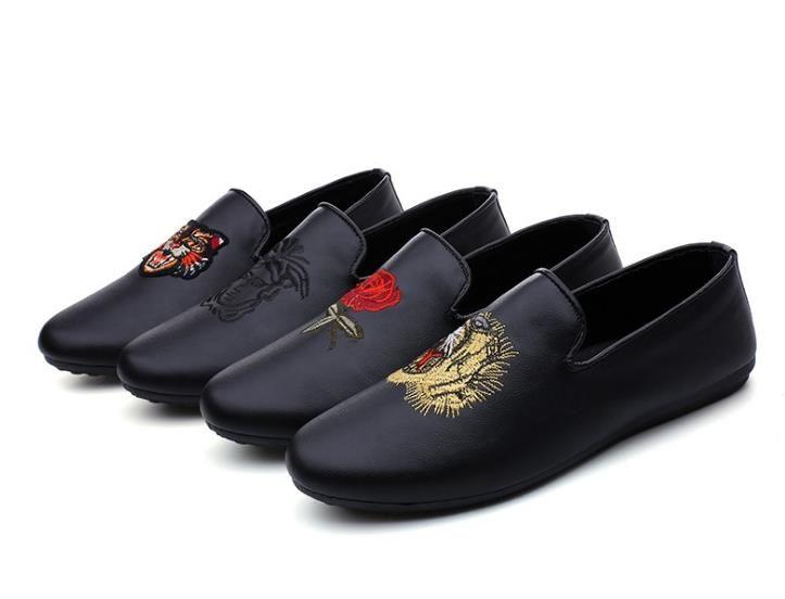 Herren Freizeitschuhe Flache Herren Schuhe Wasserdicht Atmungsaktiv Müßiggänger Herren Echtes Leder Mokassins Komfortabel Heißer Verkauf