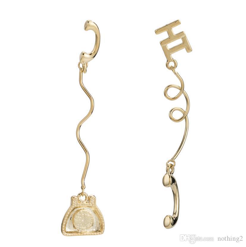 jewelry S925 sterling silver earrings telephone wire shape earrings for women special hot fashion wholesale