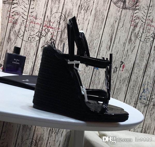 ! Heiße Frauen Sandalen Designer-Schuhe Luxus Sommermode Freizeitschuhe Pantoffel Stern Plattform Y-Serie 1: 1 Ferse 10.5cm Größe 35-40 mit Kasten