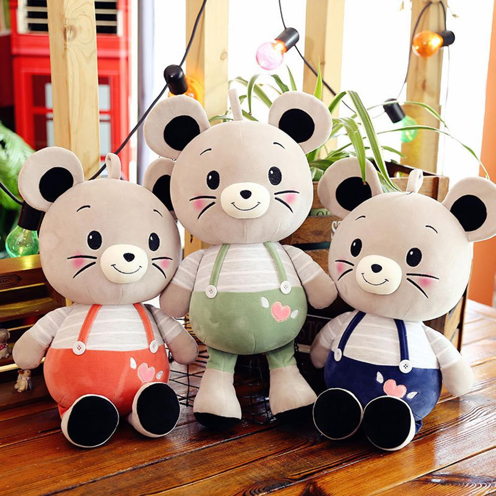 2020 Year Lovely Rat Suspender Pants Mouse Plush Stuffed Doll Kids Toy Mascot Gift Home Bed Decor For children kid Birthday Gift