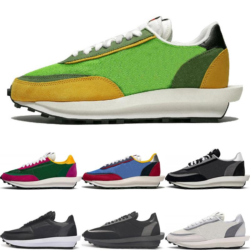 2019 New Sacai Ldv Waffle Casual Shoes For Men Women Black White Grey Pine Green Gusto Varsity Blue Sports Sneakers Size 36-45