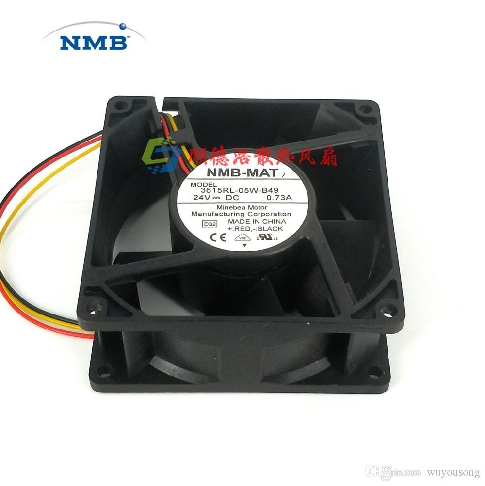 Original NMB 3615RL-05W-B49 90X90X38mm DC 24V 0.73A 3-pin 3-pin conector servidor servidor ventilador de refrigeración cuadrado
