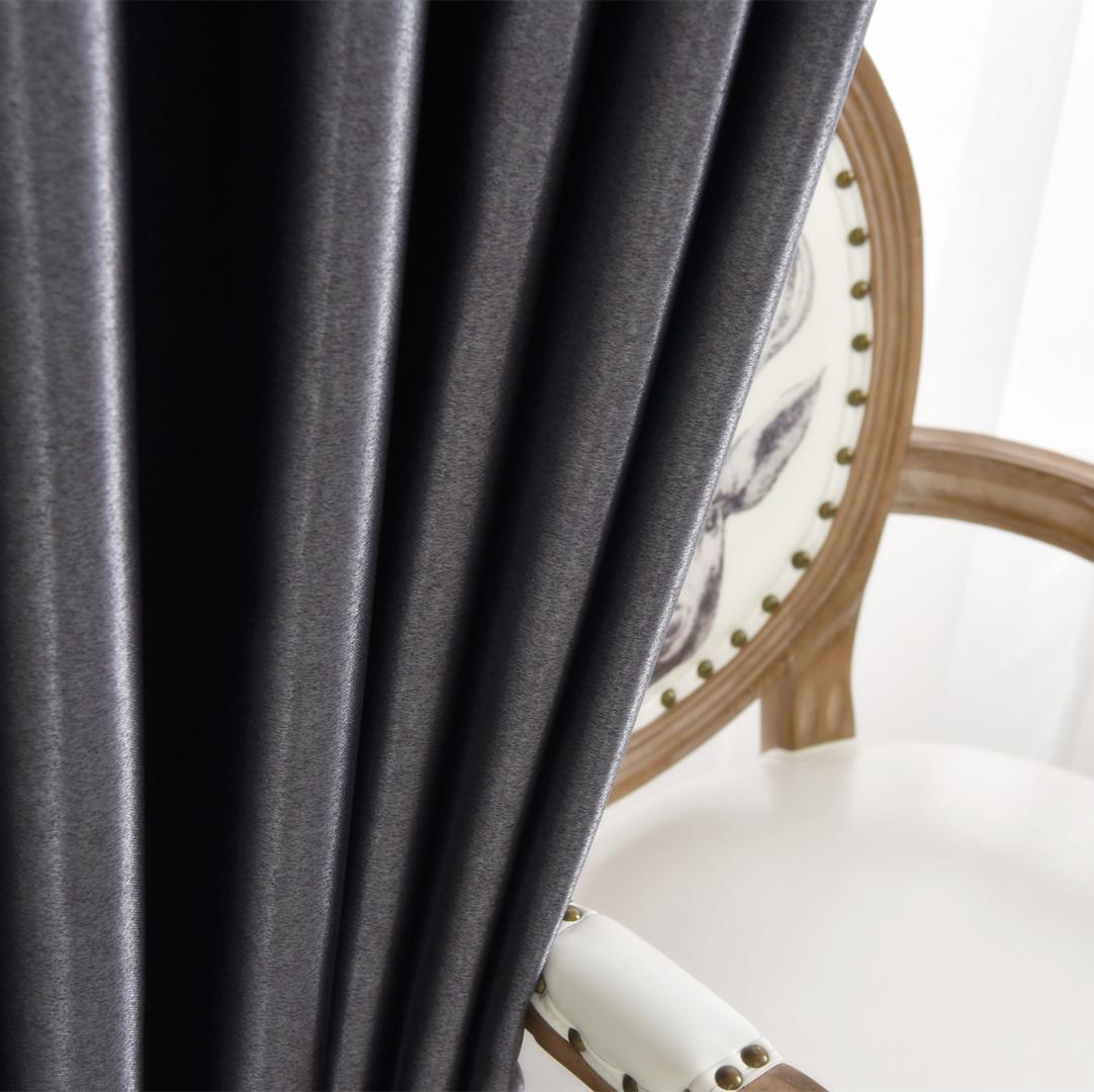 Cuertains de couleur pure pour Isolation Salon Chaleur Isolation acoustique rideau en tissu polyester électrique Shading rideau en tissu