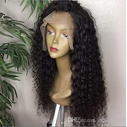 Virgin del brasiliano Parrucche Water Wave Glueless parte anteriore del pizzo dei capelli umani parrucche per le donne nere Pre pizzico merletto della parte anteriore parrucche 150% densità umana